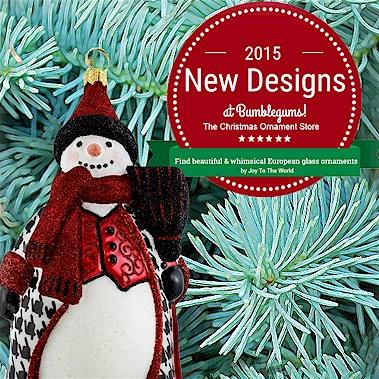 New 2015 Joy To The World Christmas Ornaments.