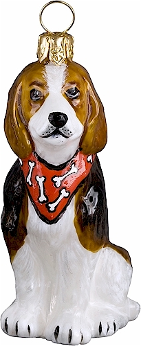 Beagle with Bandana