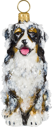 Bernese Mountain Dog Sitting- Snowy Version