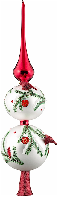 European blown glass christmas tree toppers finials