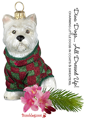 Christmas Ornament- Dog in Sweater