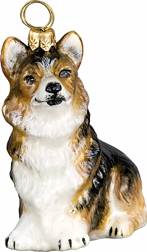 Pembroke Welsh Corgi Sitting- Tri-Color