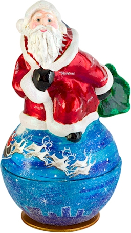 Candy Container- Santa Kugel-Around the World